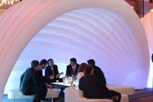 تخصيص الإعلان المطاطية خيمة الأبيض نفخ قبة خيمة لوالحزب حتى أو حفل زفاف الديكور
