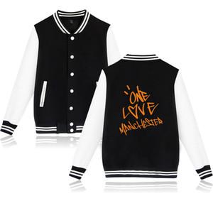 Ariana Grande mens designer giacche ONE LOVE Print Jacket Coat Uomo Donna lusso giacca con cappuccio Moda cotone Abbigliamento casual Streetwear