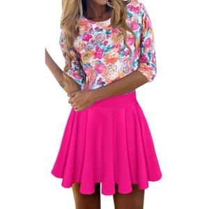 Новый сладкий Kawaii-line Dress цветочные печатных пляж летние платья Robe Femme Sexy Empire мини Dress Party сарафан Gv446 Y19012201