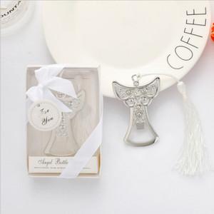 50 piezas Ángel de la guarda diseño plata Metal abrebotellas nupcial ducha boda favores envío gratis