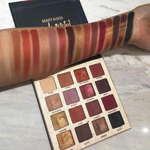 Beauty Glazed Matte Paleta da Sombra de Longa Duração Glitter Sombra Paleta Shimmer Matte Nude Pigment Sombra de Olho À Prova D 'Água