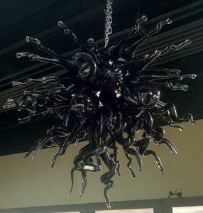 Nero 100% soffiato a bocca stile borosilicato Ristorante decorativo moderno pendente lampade Dale Chihully Blown Glass Chandelier