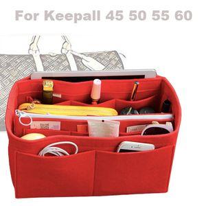 Pour [Keepall 45 50 55 60] 3MM Sac à main en feutre Organisateur dans le sac fourre-tout Organisateur Insérer couches (w / poche détachable Zip)