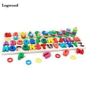 Детские деревянные игрушки Монтессори Math игрушки Counting цифровой письмо Познание Совпадение Паззл Развивающие игрушки Деревянные игрушки для детей CX200609