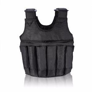 Einstellbare Fitness Gewichtsweste 20kg 50kg Übung Training Fitness Jacke Gymnastik-Trainings-Box Weste Ausrüstung BHD2