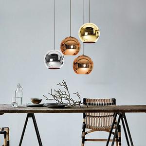 Mirror Ball moderno pingente luz Glass Globe Lâmpadas Pingente Nordic Hanging Lamp cozinha luminária luminária moderna