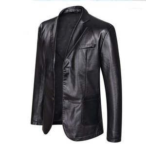Plus Size Mens Big PU Leather Jackets Casual Single Breasted Clothing Coats Designer Jacket 5XL 6XL