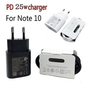 Para la Nota 10 Cargador Super Fast Carging 25W PD Power Adaptador USB Tipo C a Cable USB C Cable QC3.0 Cordón de carga rápida