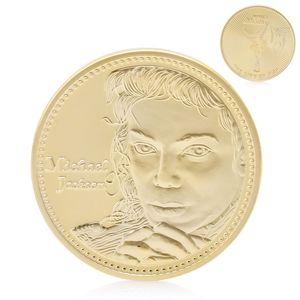 Decoração Artesanato banhado a ouro estrela da música Michael Jackson Moedas comemorativas Art Collection Souvenir Coin Outros Home Decor