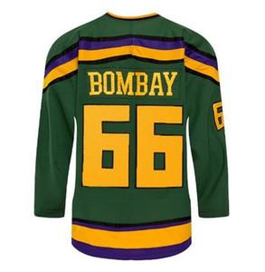 Vintage Uomini vero ricamo completa # 66 Gordon Bombay MOLTO RARO NESSUNA RISERVA Artigliere Stahl Mighty Ducks Waves o personalizzato qualsiasi nome o numero di maglia