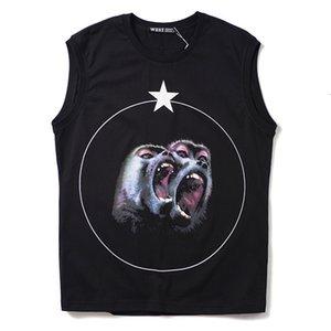 Camiseta sin mangas de verano para hombre diseñador mono círculo estrella chaleco Unisex camiseta de algodón Tops color negro tamaño S M LXL 2XL