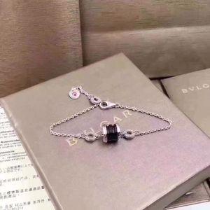 Preto pulseira de prata 925 anel da mão de cerâmica vibrato estudantes cintura vermelha de moda para enviar sua namorada um presente de aniversário
