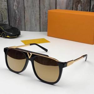 MASCOT Sunglasses 럭셔리 인기 레트로 빈티지 0936 남자 디자이너 선글라스 Shiny Gold 여름 스타일 레이저 로고 Gold Plated With Case