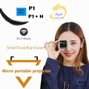기존 UNIC P1 + H WIFI 무선 모바일 프로젝터 지원 미라 캐스트 DLNA 포켓 홈 무비 프로젝터 Proyector Beamer