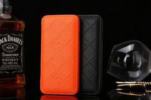Chaude Modèles De Mode De Luxe Coloré Grille En Cuir Téléphone Couverture Arrière Pour iPhone X XS Max XR Flip Avec Carte De Crédit Étui souple pour iphone 7 8 Plus