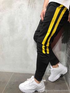 Mode-Designer-Herren-Straße Pantalones Hosen Gestreiftes Buttons Design Bleistift-Harem-Hosen-beiläufiger Sport Jogger