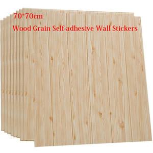 3D Wood Grain Wall Sticker privo di formaldeide impermeabile Asilo della decorazione della casa della stanza di bambini Wallpaper Collision Avoidance