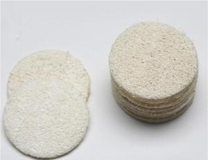1000 unids Roud Natural Loofah Pad Maquillaje para la cara Eliminar exfoliante y piel muerta baño ducha Loofah
