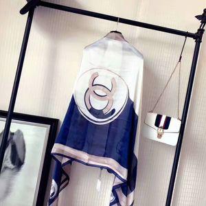 Nouveau 2020 de style femmes de luxe 100% design écharpe en soie classique étoilées plage châle foulards de soie headwrap exquis femme 180-90cm écharpe de soie