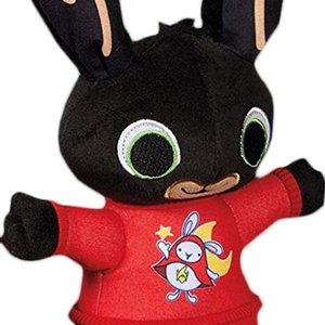 Cute Bing Bunny Plush Toy Pendant Clip Keychain Bing Bunny Doll Hoppity Voosh Stuffed Animal Pando Rabbit Toy for Christmas Gift