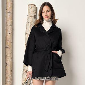 Fur Korean Elegant Real Warm Woolen 200% Wool Coat Women Jacket Abrigos Mujer Invierno 2020 F2022 YY2042