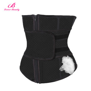 Lover Beauty Waist Trainer Tummy Trimmer Zipper Latex Cincher Fitness Corset Breathable  Slimming Abdominal Belt