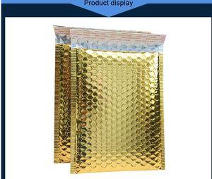 Bolsas de oro envolventes de correo bolsas de mensajería bolsas impermeables bolsas de burbujas remolque acolchado burbuja envase 30pcs 18 * 23cm niqdt