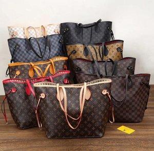 2adet kompozit torbaları PU deri debriyaj omuz çantaları cüzdan ile kadın çanta yüksek qulity klasik Tasarımcı Womens çanta çiçek bayanlar set