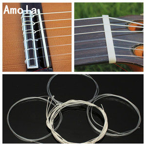 6 Strings Original Classical Guitar Strings Set Clear Nylon Silver-Plated Copper Alloy Wound Normal Tension