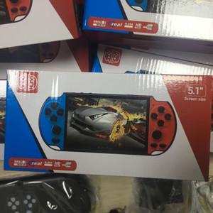 Kamera TV Çıkışı TF Video ile 8GB X7 PLUS Taşınabilir Oyun Oyuncu 5.1 inç Geniş Ekran Taşınabilir Oyun Konsolu MP4 Çalar