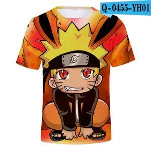 2-13 años de la camiseta de los niños del animado de Naruto 3D impresión de alta calidad de Verano Los estudiantes Tops Calle Tees Ocio camisa de naruto