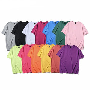 Para hombre camisetas lisas verano Hip Hop camisetas de algodón transpirable Camisetas Streetwear básico ocasional hombre camiseta de manga corta