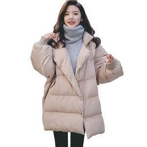 2019 Real New Full Zipper Solid Fashion Cotton Cotton-padded Jacket More Big Yards Sleeve detachable Warm Winter Jacket Women