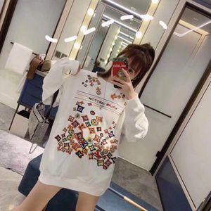 Новых женщин балахон с пуловер в длинном стиле, вокруг шеи и большого размера, свободный балахон футболка рыхлый и тонкий