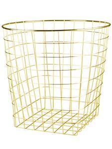 Nordic creative simple gold metal storage basket hamper clothing sundries toys food storage basket home
