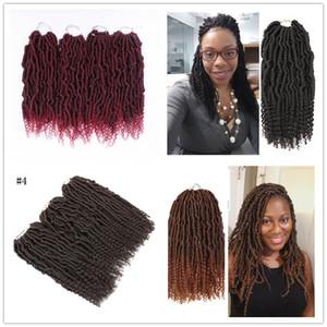 Passione Crochet Twist lunghi Best Hair for Passion Twist Crochet estensioni dei capelli sintetici tessuto dei capelli 14inch Bulk Acqua riccio crespo 2020