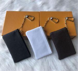 2020 4-لون مفتاح الحقيبة dleather قبضة ذات جودة عالية للسيدات الكلاسيكية الشهيرة المفاتيح حقيبة عملة حقيبة جلدية صغيرة