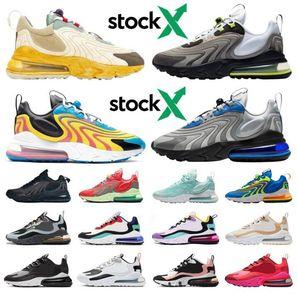 TOP 270 react stock x 270s men women running shoes travis scott black bauhuas athletic mens womens trainers sports sneakers runners