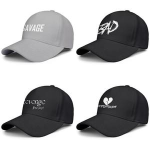 XXXTentacion coração dos homens e mulheres divididos tampão do camionista ajustável golfsports desenhador equipado personalizado elegantes personalizado chapéus Revenge