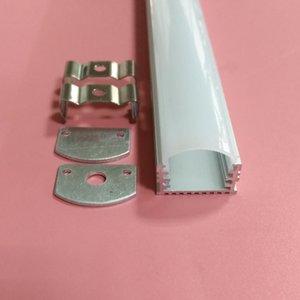 Frete grátis alumínio anodizado Tubing / Extrusão de Alumínio Forma U Perfil Rail / Alumínio U Canal