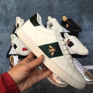 большой размер us5-us13 eur35-48 ace обувь мужчины женщины кожа embroideried bee тигр высокое качество дизайнер обувь с коробкой мешок для пыли
