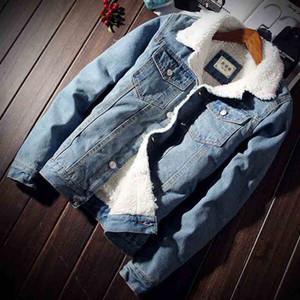 Herrenmode Denim-Mantel 2020 der NEUEN Männer verdickte Jacke Fashion Jacke Imitation Lammwolle Herren Baumwolle gefütterte Jacke Cotton Suit # 1