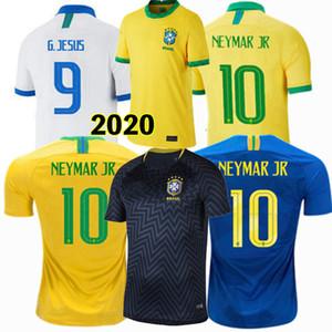 2019 2020 2021 Brazil Soccer Jerseys G. JESUS P. COUTINHO FIRMINO casa longe 20 21 homens e mulheres camisa de futebol feminino 4XL