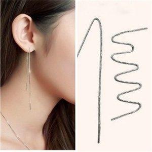 S925 reines Silber Ohr Thread Frau, super lange Quaste Ohrringe Schmuck Großhandel 6cm, 10cm, 14cm, 17cm, 20cm