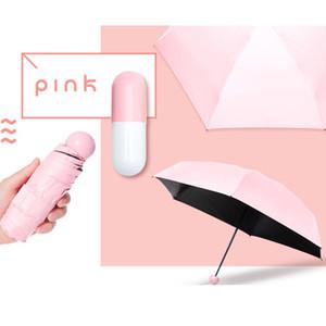 4 Цвета Качества Капсулы Мини Карманный Зонтик Ясно мужской Зонтик Ветрозащитный Складной Зонты Женщины Компактный Зонтик от Дождя