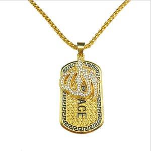 new Man's 18k Gold Punk Medusa Hip Hop Tag Necklace Head Portrait Pendant Neckalce Fashion Jewelry Accessories