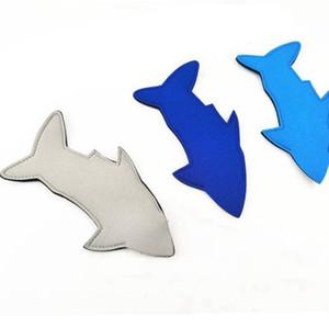 Tubarão Neoprene picolé Titular reutilizável Anti congelamento festa de aniversário do verão Crianças Koozies Peixe Ice Pop mangas Freezer Blanks favores EEA1656
