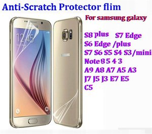 Clear Front Screen Protector flim Cover Anti-Scratch For samsung galaxy S8 S7 S6 Edge plus S5 MINI Note 8 5 J7 A9 C9 2000pcs
