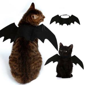 Nouveau mode Cute Pet Halloween petite chauve-souris Ailes de chat noir Costume Accessoires Décoration