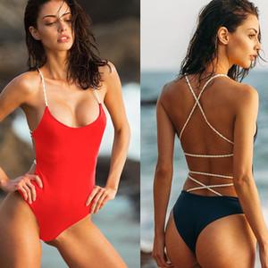 One Piece Backless Swimsuit Bandage Cross Swimwear Bikini Summer Beach Wear Bathing Suit Women Clothes maillot de bain drop ship
